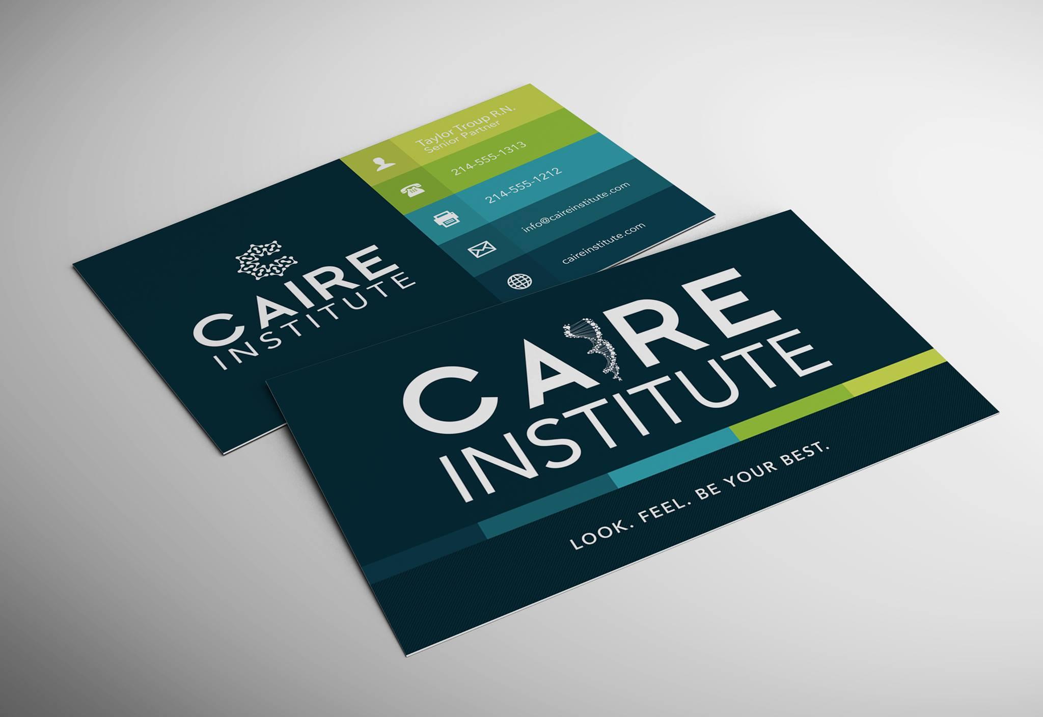 Caire Institute Custom Business Cards ChemistCreative