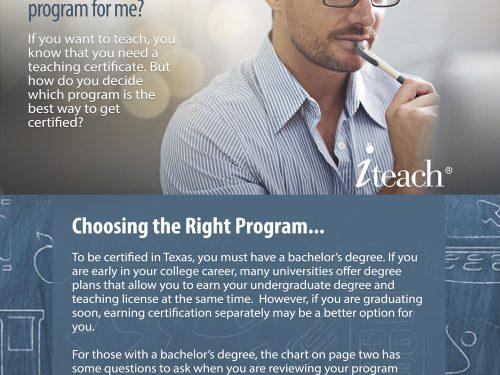 custom brochure for iteachTEXAS