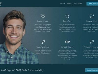 Leatherwood Dental Website Design Denton Texas