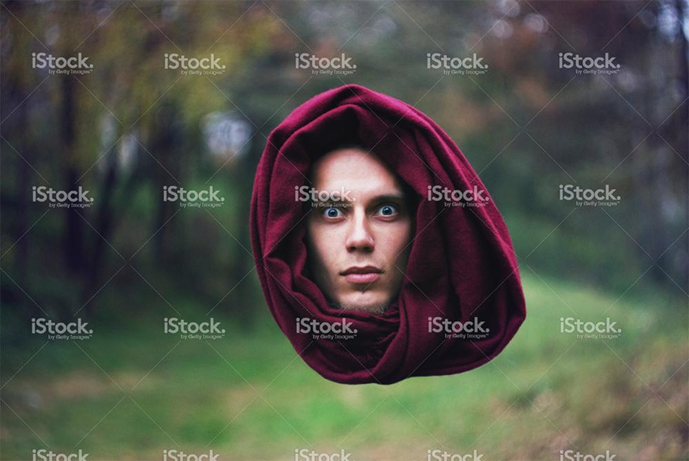 floating head stock photo