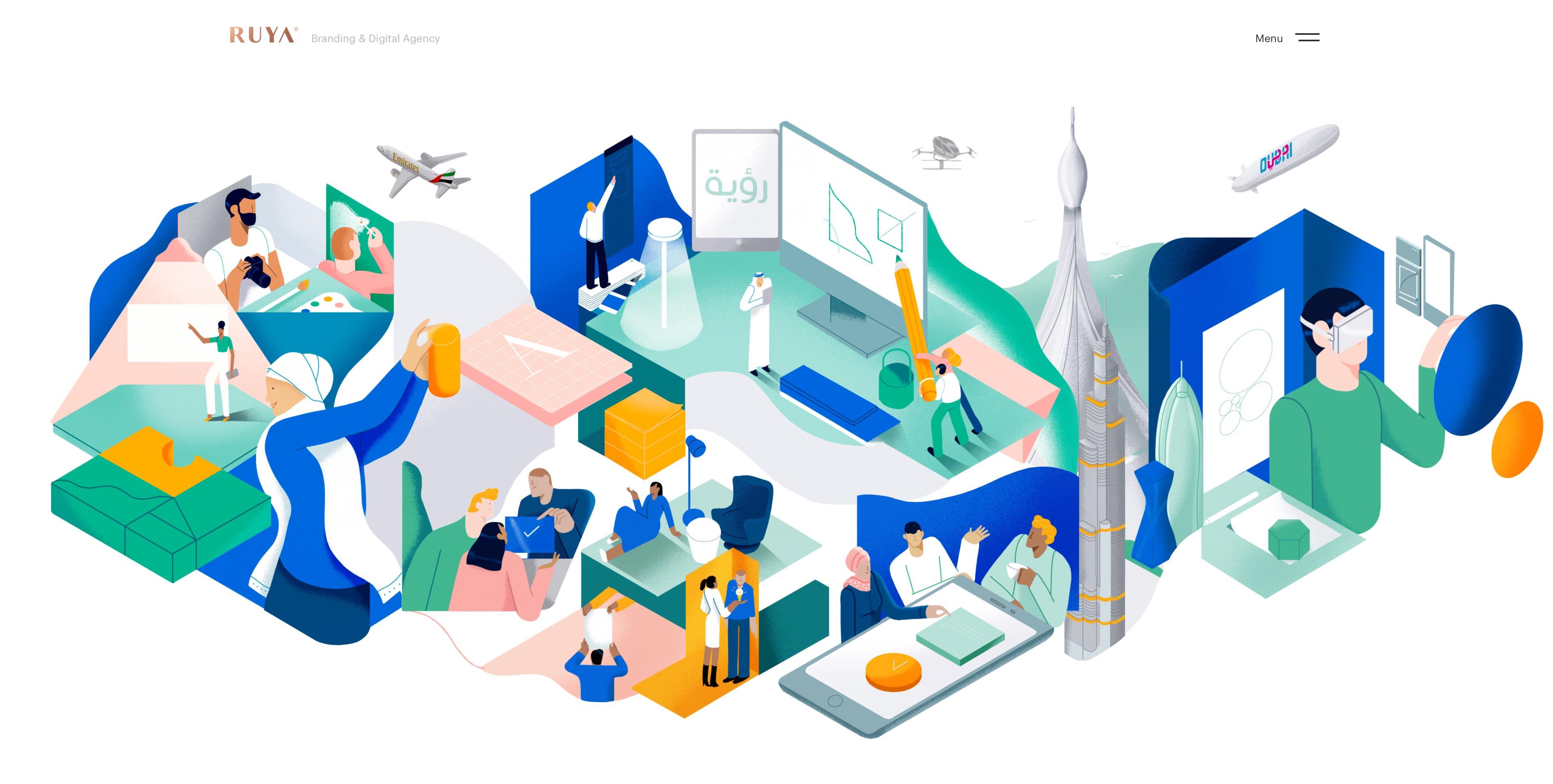 Web Design and Illustration Image
